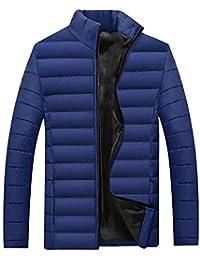 BOZEVON Cappotto da Uomo - Capispalla Leggera in Cotone Autunno-Inverno  Slim Fit f9a355ba5ce