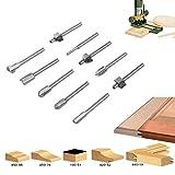 candora® 1001/20,3cm Holz Mini Schaft HSS Titan Router Bits Dateien passend für Dremel Rotary Werkzeug Sets