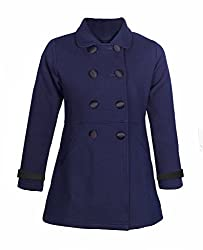 Naughty Ninos Girls Navy front open Jackets for 2 to 12 years