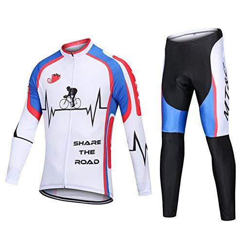 AQWWHY Damen Radsportanzug Atmungsaktiv Schnell Trocknend Leichtes Komfortables Reiten Sportbekleidung Set Rad Kit Langarm-Jersey-Hose -