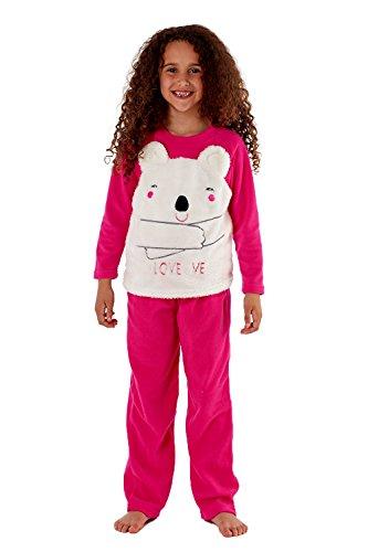 Selena Secrets Girls Cici Bear Pyjamas - Hot Pink - 13 Years ae2b1367155
