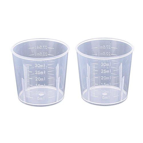 Vaso medidor, vasos graduados plástico Labs 20/30/50/100/250/300/500/1000