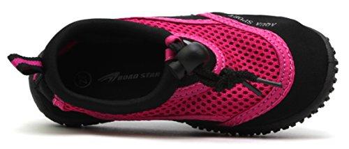 Aqua Pink EU RoadStar Strand Neopren Sailing 82505C Schuhe Schwarz Kids 25 Bade Surf Wasser Schuhe 30 RS qgISway