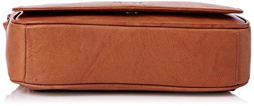 Organizer-Umhängetasche aus Leder von Gigi - GRÖßE: B: 22 cm, H: 14 cm, T: 5 cm Honig