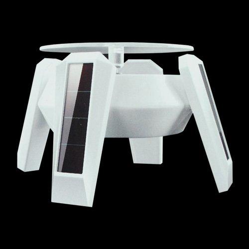 Solar Powered drehbarem Display Ständer Drehen Tisch mit LED-Licht
