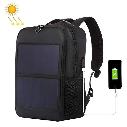 ChHAIS WARME Startseite Praktische 14W Solar Panel Power Rucksack Laptop-Tasche mit Griff und Dual USB-Ladeanschluss Urlaub Outdoor-Rucksack Outdoor-Produkt, das Bett Schwimmen, Bett Erwachse -