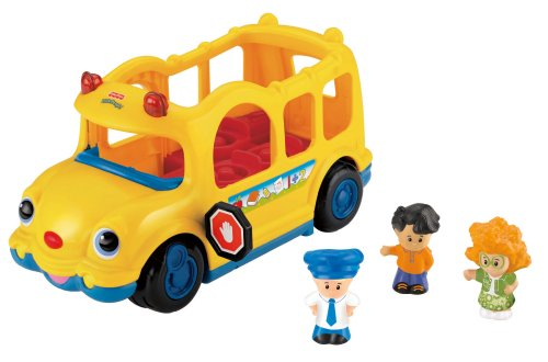 Little People-spielzeug-bus (Little People von Fisher Price Little People Lil 'Movers Schulbus-Spielzeug)