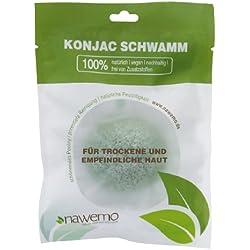 Esponja biodegradable de konjac con aloe vera, para pieles secas
