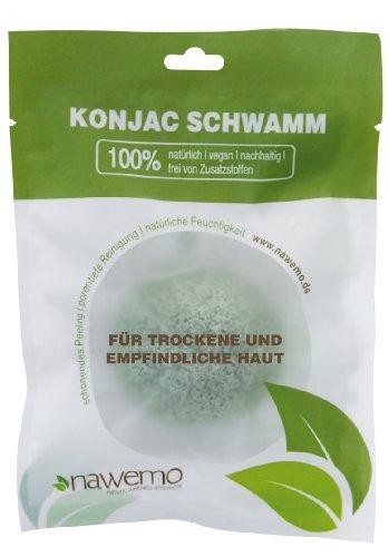 Éponge Konjac à l'aloès, pour la peau sèche