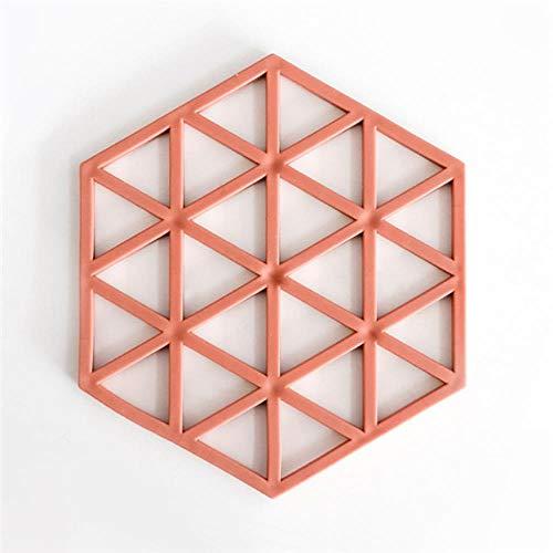WANG Hohl Silikonuntersetzer Hexagon Milch Kaffeetasse Matten Pad wärmeisoliert rutschfeste Schüssel Tischsets Heißgetränkehalter Wohnkultur, Stil 2