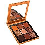 Nicedeal Le Donne Trucco Gamma di Colori 9 Colori dell'ombra di Occhio di Lunga Durata Palette Impermeabile per 4 Stagioni Usage (Arancione)