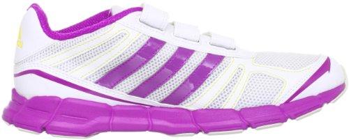 adidas Adifast CF, Chaussures de running enfant mixte Blanc - Mehrfarbig (Running White Ftw / Vivid Pink S13 / Vivid Yellow Melange)
