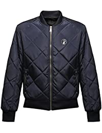 45REVS Northern Soul Fist Diamond Quilted Bomber Jacket by