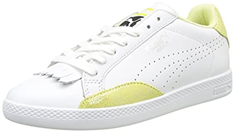 Puma Match Lo Reset Wn's, Sneakers Basses Femme, Blanc (White-Soft Fluo Yellow 03), 38 EU