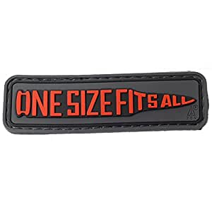 Airsoft 7.62 One Size Fits All Moral Patch Black