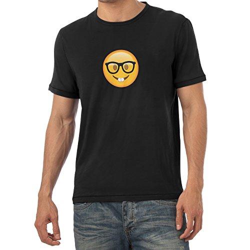 TEXLAB - Nerd Emoji - Herren T-Shirt Schwarz