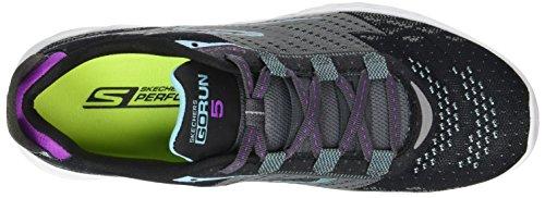 Skechers Go Run 5, Chaussures De Sport En Plein Air Femmes Noir (bkcc)