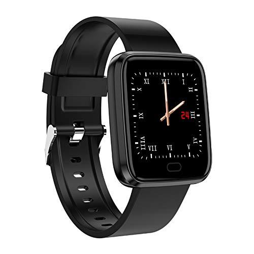 ZLI Bluetooth Smart Watch, Health & Fitness Tracker 8 modalità Sport Display TFT da 1,3 Pollici con Cardiofrequenzimetro Continuo 24 Ore per Bambini Donna Uomo,Nero