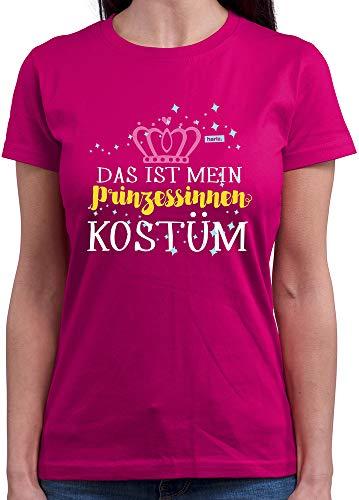 Womens Kostüm Prinzessin Elf - HARIZ  Damen T-Shirt Rundhals Das Ist Mein Prinzessinnen Kostüm Karneval Verkleidung Plus Geschenkkarten Pink XL