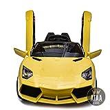 Lamborghini Style 12v voiture électrique pour enfants avec batterie 12 volts et télécommande - Jaune