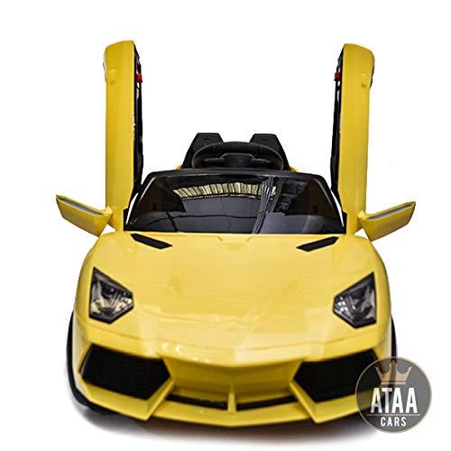 Super deportivo ATAA CARS 12v coche eléctrico para niños con mando - potente batería 12v -Coche más vendido en 2018 - Amarillo
