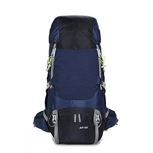 Kiki Outdoor Rucksäcke Hohe Kapazität Wasserdicht reißfestem Nylon Bergsteigen Camping 70L, marineblau (Soft Tackle Box, Rucksack)