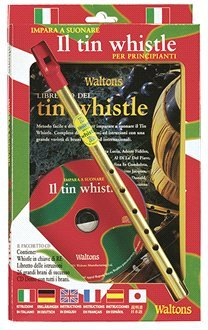 Waltons italienische Zinn Penny Whistle CD-Paket - D Pfeife + Buch + CD (Zinn Italienische)