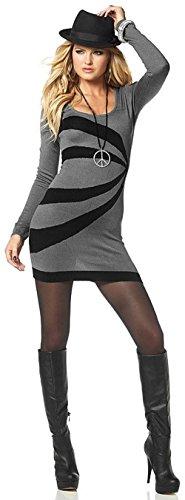 Melrose Strickkleid, grau-schwarz (36)