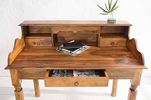 DuNord Design Sekretär Konsole JAKARTA 115cm Palisander Massivholz Sheesham natur Schreibtisch