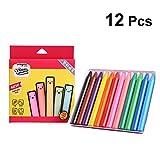 YeahiBaby Non Toxique Crayons en Soie Lavable Grande Crayons sans Danger pour bébé Enfants Peinture 12Couleurs