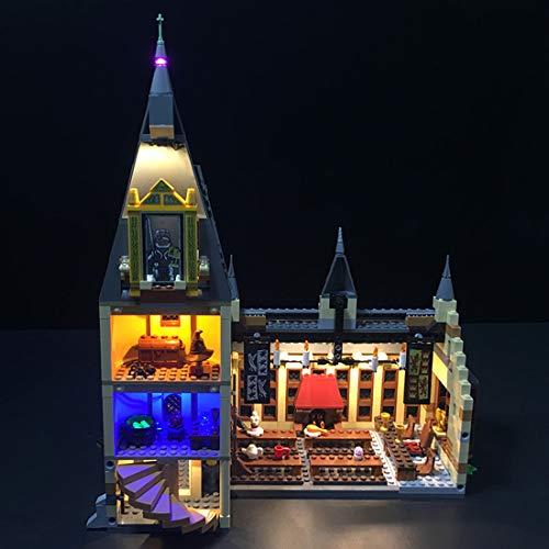 YxFlower LED Licht Set Für Lego Bausteine Modellbau Spielzeug,Led Licht Beleuchtung Kit für Lego 75954 Harry Potter (Modell Nicht Enthalten) (Lego-harry-potter-kits)