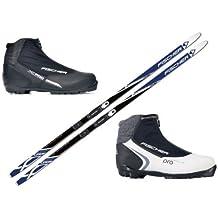 FISCHER SUMMIT - Set Esquí Fondo + Fijación - Botas Xc Pro - 42 Hombre