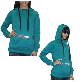 Fox Damen Warm Surf & Skate Pullover Hoodie Sweatshirt Jacket XL Cyan