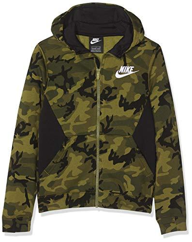 Nike Jungen Club Fleece Hoodie, Olive Flak/Black/(White), L