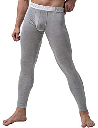 YiLianDa Capa para Hombre De Base Pantalones Térmicos Johns Ropa Interior De Caliente Pantalones Largos