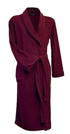 Lloyd Attree & Smith - Robe de Chambre en Maille Polaire - Homme - Bordeaux (XL)