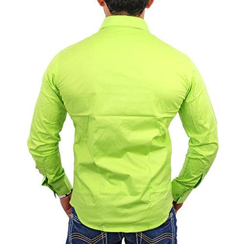Reslad Herren Hemd Long Dayton RS-Shirt Grün - Grün