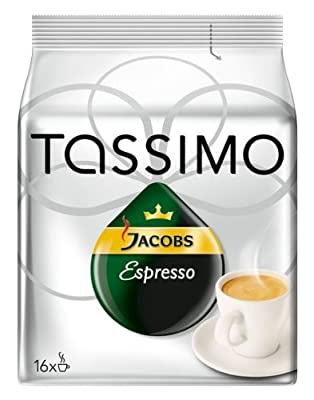 Tassimo Jacobs Espresso Coffee Discs 16 Drinks