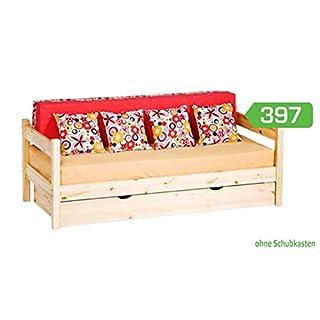 Bett Holzbett Einzelbett Holzbett 90 x 200 Kiefer massiv natur »N397«
