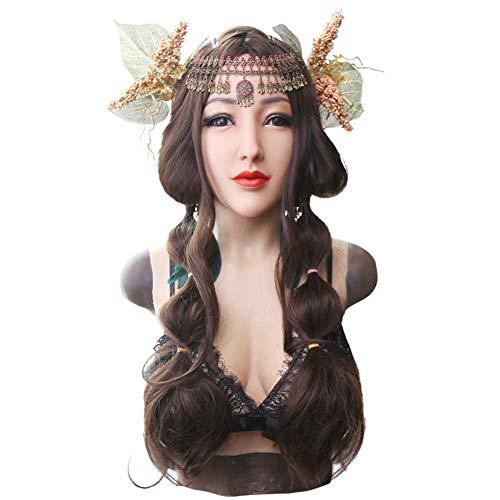 HSNC Alice Women Weiche Silikonbrustmaske, Künstliche Weiche Brust Mit Crossdressing Transgender Halloween Kostüm
