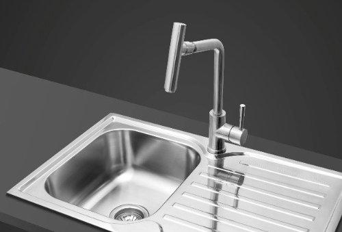 Sanlingo – Edelstahl-Küchenarmatur mit 360° Schwenkauslauf - 2