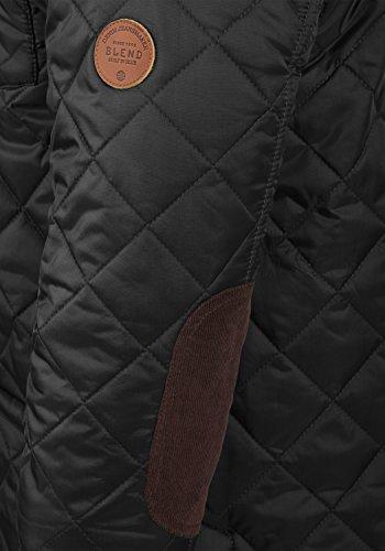BLEND Camilo Herren Übergangsjacke Steppjacke mit Stehkragen aus hochwertiger Materialqualität Black (70155)