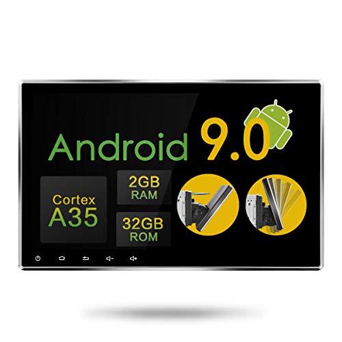 Amaseaudio Android 9.0 Upgrade 10.1 Zoll DVD Car Stereo Radio Autoradio Octa Core 2GB RAM 32GB ROM In-Dash 2-Din 4G WiFi GPS Navigationssystem Rom Navigation