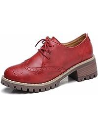 Moonwalker Zapatos con Cordones de Gamuza Mujer Oxford ( EUR 35,Turquesa)