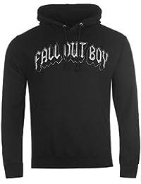 Fall Out Boy officielle Squelette Logo Pull à capuche pour homme Noir à capuche pour homme