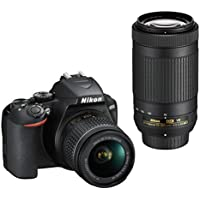 Nikon  Kit  Reflex numérique D3500 + AF-P DX 18-55 f/3.5-5.G VR + AF-P DX 70-300 f/4.5-6.3G Ed VR  Noir (VBA550K005)