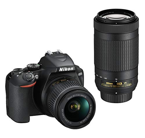 Nikon D3500 DX-Format DSLR Two Lens Kit with AF-P DX Nikkor 18-55mm f/3.5-5.6G VR & AF-P DX Nikkor 70-300mm f/4.5-6.3G ED (Black)
