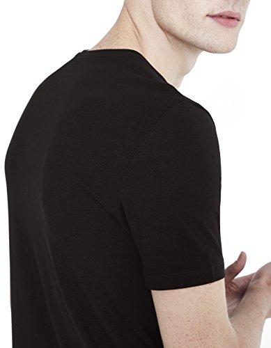 Celio Herren T-Shirt Ceuni Schwarz - Schwarz