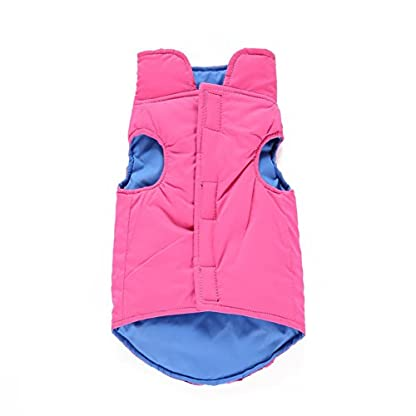 Puppy Pet Warm Coat,Kiao Small Dog Soft Winter Vest Clothes Both Sides Can Wear 1
