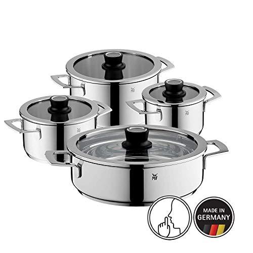 WMF 778046380 Vario Cuisine-Batería de Cocina de 4 Piezas con termómetro Integrado, Acero Inoxidable...